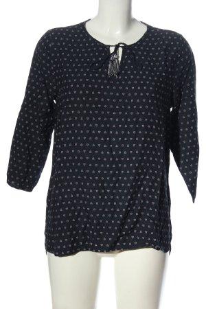 Tom Tailor Denim Slip-over Blouse black-white allover print casual look