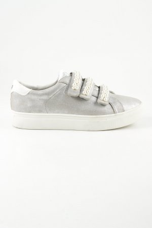 Tom Tailor Denim Zapatillas con velcro color plata-blanco look casual