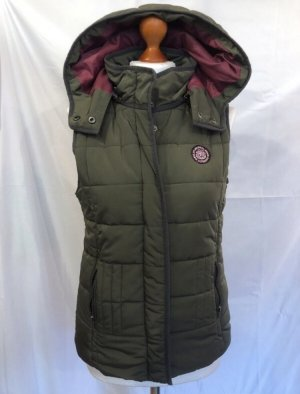 Tom Tailor Denim Quilted Gilet khaki-violet