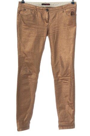 Tom Tailor Denim Jeansy z prostymi nogawkami brąz Ekstrawagancki styl