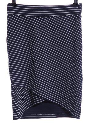Tom Tailor Denim Stretchrock dunkelblau-weiß Streifenmuster Casual-Look