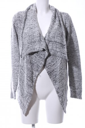 Tom Tailor Denim Strick Cardigan hellgrau-schwarz meliert Casual-Look
