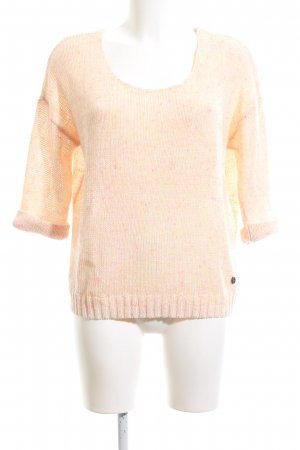 Tom Tailor Denim Strickpullover creme meliert Casual-Look