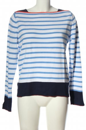 Tom Tailor Denim Knitted Sweater blue-white striped pattern casual look