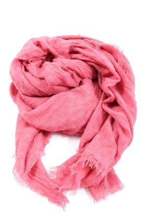 Tom Tailor Denim Sciarpa lavorata a maglia rosa stile casual