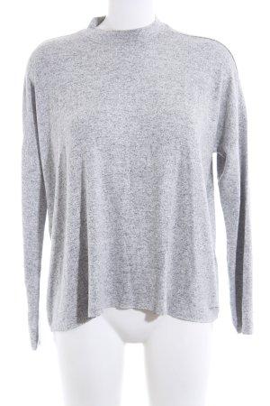 Tom Tailor Denim Gebreid shirt lichtgrijs gestippeld casual uitstraling