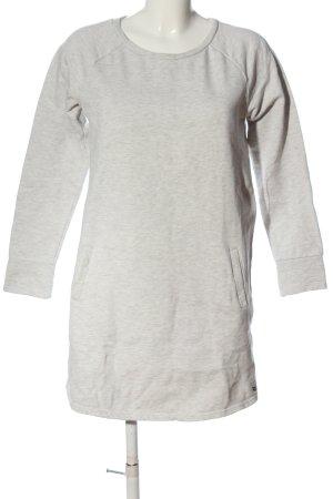 Tom Tailor Denim Robe Sweat gris clair moucheté style décontracté