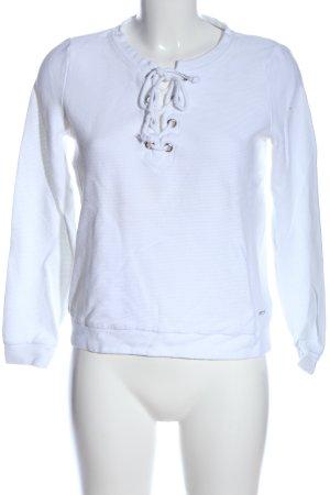 Tom Tailor Denim Sweatshirt weiß Casual-Look