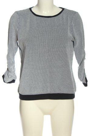 Tom Tailor Denim Sweatshirt schwarz-weiß Allover-Druck Casual-Look