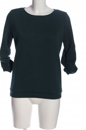 Tom Tailor Denim Sweatshirt grün Allover-Druck Casual-Look