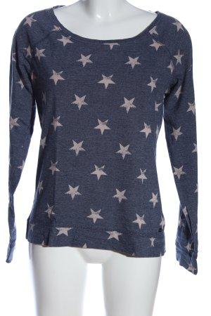 Tom Tailor Denim Sweatshirt blau-creme Allover-Druck Casual-Look