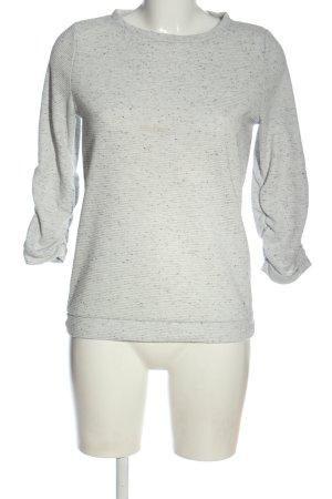 Tom Tailor Denim Sweatshirt hellgrau-schwarz Allover-Druck Casual-Look