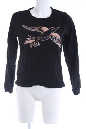 Tom Tailor Denim Sweatshirt schwarz Casual-Look