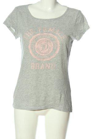Tom Tailor Denim T-Shirt hellgrau-pink meliert Casual-Look