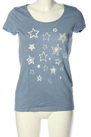 Tom Tailor Denim T-Shirt blau-hellgrau meliert Casual-Look