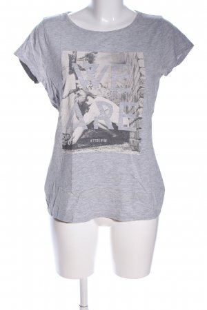 Tom Tailor Denim T-Shirt hellgrau meliert Casual-Look