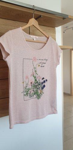 Tom Tailor Denim T-Shirt dusky pink-pink linen