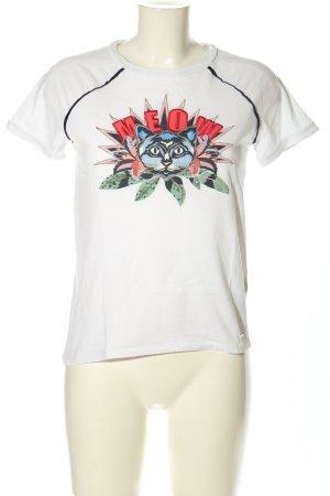 Tom Tailor Denim T-Shirt Motivdruck Casual-Look