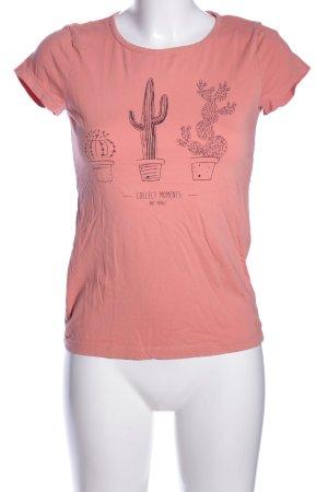 Tom Tailor Denim T-Shirt pink Motivdruck Casual-Look