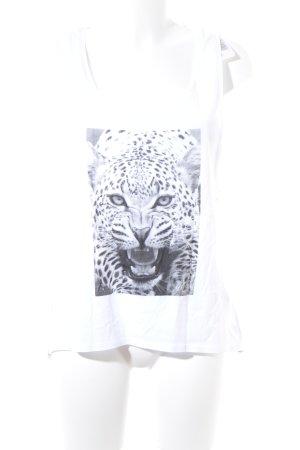 Tom Tailor Denim Tanktop weiß-grau Animalmuster Casual-Look