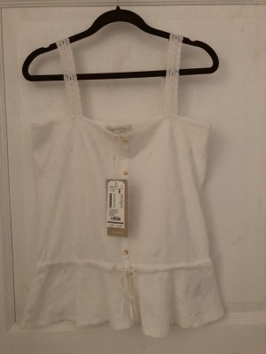 Tom Tailor Denim Top Gr. XS weiß