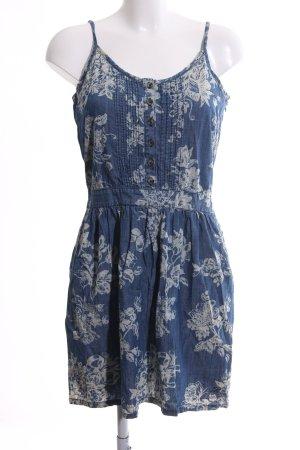Tom Tailor Denim Trägerkleid blau-hellgrau Blumenmuster Casual-Look