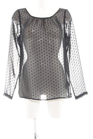 Tom Tailor Denim Transparenz-Bluse schwarz Elegant