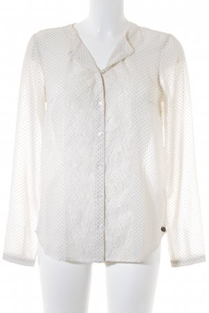 Tom Tailor Denim Transparenz-Bluse creme-goldfarben