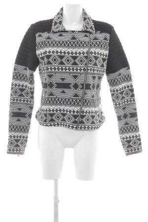 Tom Tailor Denim Übergangsjacke schwarz-weiß abstraktes Muster Casual-Look