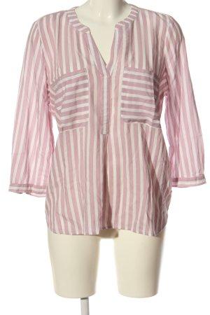 Tom Tailor Denim V-Neck Shirt pink-white allover print casual look