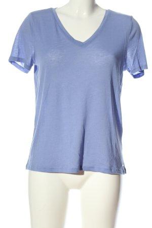 Tom Tailor Denim V-Ausschnitt-Shirt blau Casual-Look