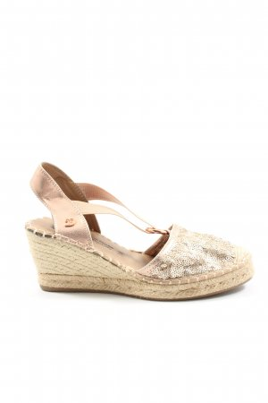 Tom Tailor Denim Wedge Sandals gold-colored casual look