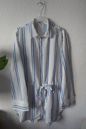 Tom Tailor Denim Weiß Bluse / Hemd Gestreift Hemdbluse Loose fit M