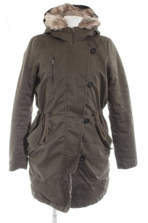Tom Tailor Denim Winterjacke khaki Casual-Look