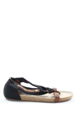 Tom Tailor Sandalias Dianette negro-marrón look casual