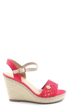 Tom Tailor Espadrille Sandals red-cream casual look