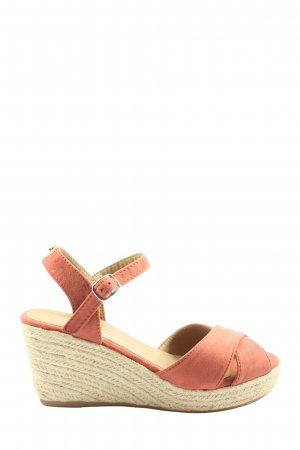 Tom Tailor Espadrille Sandals red-natural white casual look
