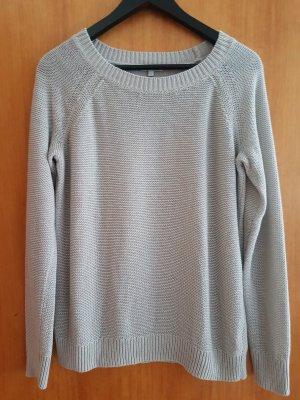 Tom Tailor Feinstrickpulli Hellbeige Glitzer M/L 38/40 Casual-look Pullover