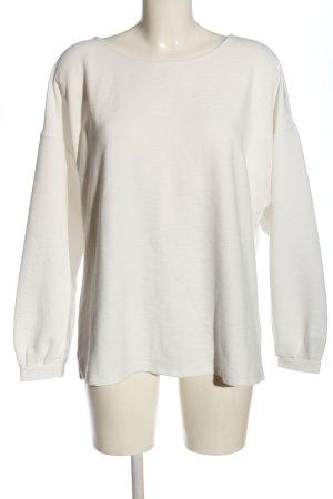 Tom Tailor Cienki sweter z dzianiny w kolorze białej wełny Warkoczowy wzór