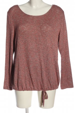 Tom Tailor Feinstrickpullover pink-weiß Casual-Look