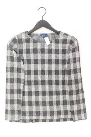 Tom Tailor Feinstrickpullover Größe M kariert grau aus Polyester
