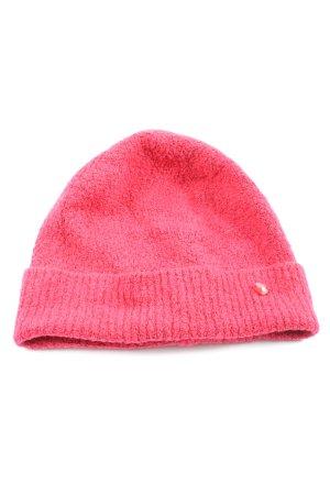 Tom Tailor Chapeau en tricot rose style décontracté