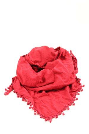 Tom Tailor Écharpe à franges rouge style décontracté