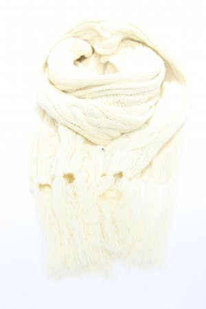 Tom Tailor Fringed Scarf white cable stitch casual look
