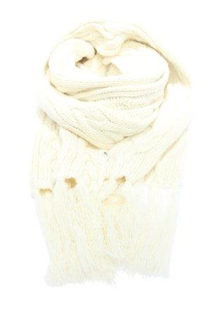 Tom Tailor Écharpe à franges blanc torsades style décontracté