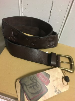 Tom Tailor Denim Leather Belt dark brown mixture fibre