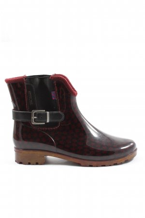 Tom Tailor Gummistiefel rot grafisches Muster Casual-Look