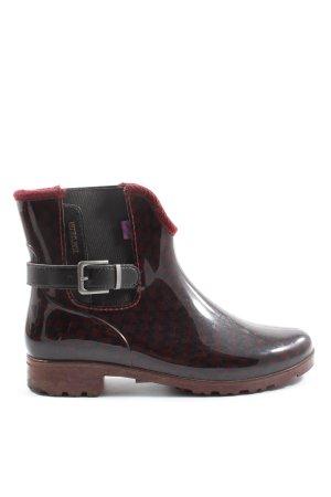 Tom Tailor Wellington laarzen rood-zwart volledige print casual uitstraling