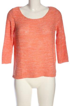 Tom Tailor Szydełkowany sweter jasny pomarańczowy Melanżowy W stylu casual