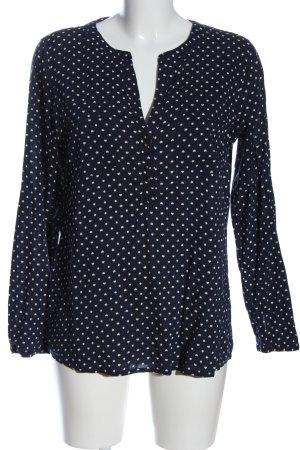 Tom Tailor Hemd-Bluse blau Allover-Druck Casual-Look